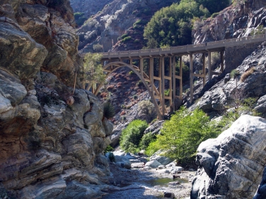 The East Fork Trail leads you straight to the bridge to nowhere on this fantastic hike