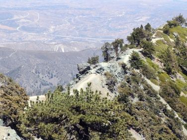 Mount Baldy offers some of the most vertigo inducing trails of all the hikes near LA