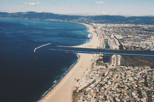 Aerial view of Marina del Rey