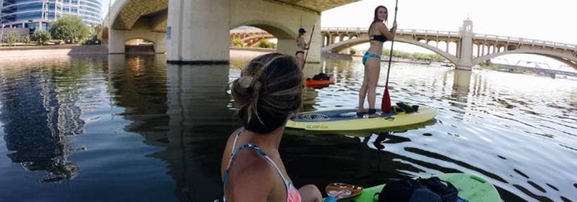 Stand up paddling for beginners is actually incredibly easy as the girls in this picture can testify. If you're in the LA area I highly recommend paddle boarding in Marina del Rey!