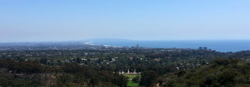Views from one of the best hikes in Santa Monica in Will Rogers