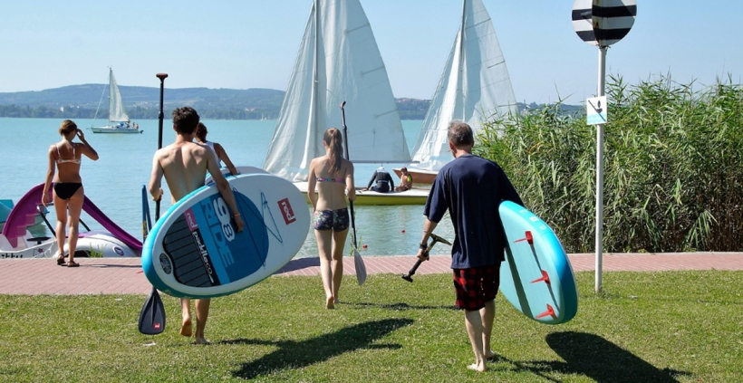Bring your new SUP board to Marina Del Rey for some water fun.