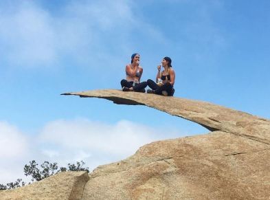 People love posing on Potato Chip Rock